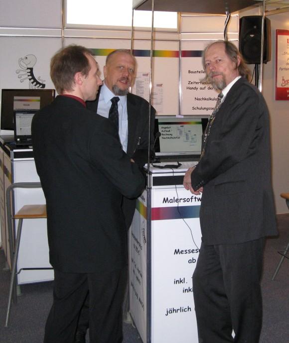 Volker, Manfred, Klaus auf Messe